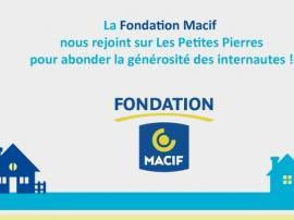 actu - Fondation Macif devient partenaire - Les Petites Pierres - 26.04.2017